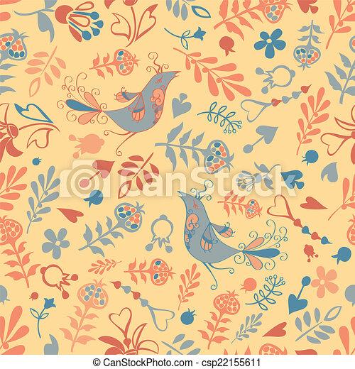 vector seamless with birds - csp22155611