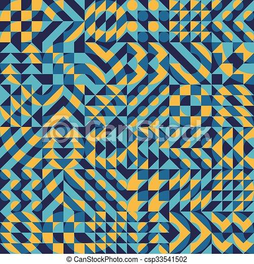 vector seamless yellow blue color overlay irregular geometric blocks