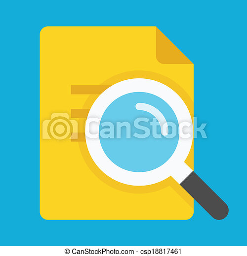 Vector Search the Document Icon - csp18817461