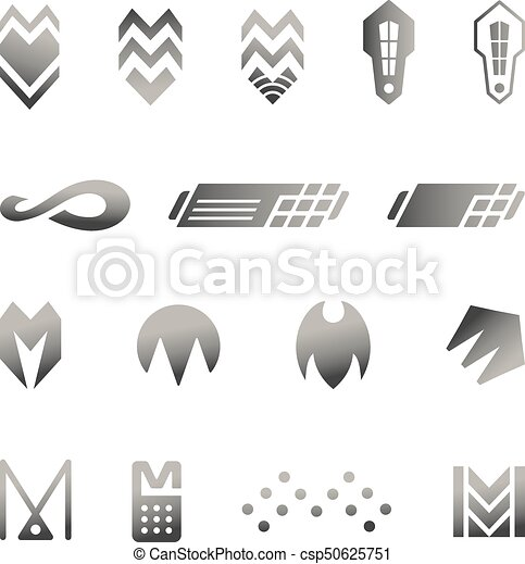 Vector Security Icons Set Silver Business Abstract Symbols For Logo