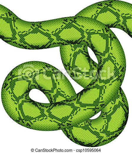 Serpiente verde vector sin costura - csp10595064