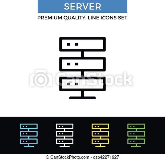 Vector server icon  Thin line icon