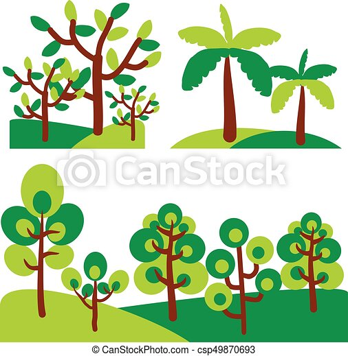 vector set abstract trees tree clip art rh canstockphoto com abstract clipart free abstract clipart images