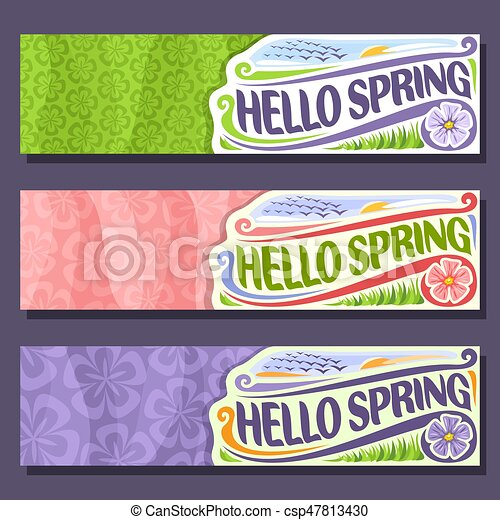 Vector set horizontal banners for Spring - csp47813430