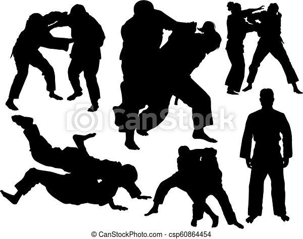 vector, set, judo - csp60864454
