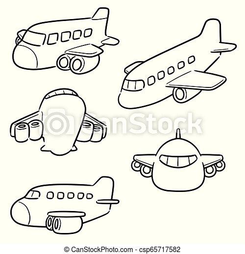 vector set of airplane - csp65717582