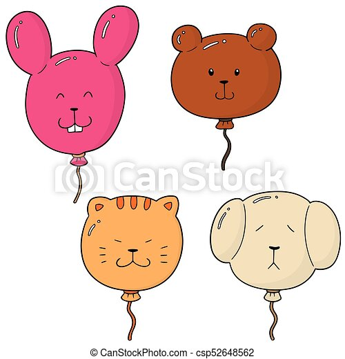 vector set of animal balloon - csp52648562