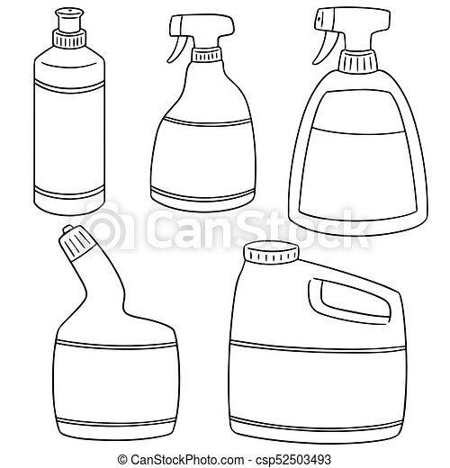 Vector Set Of Bathroom Cleaning Solution Eps Vectors Search Clip - Bathroom cleaning solution