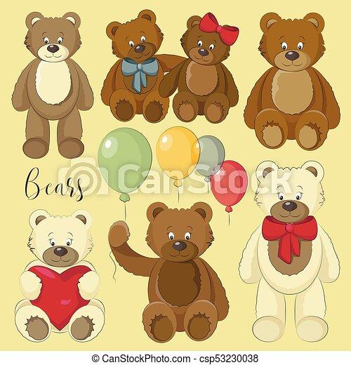 Vector Set of bear icon - csp53230038