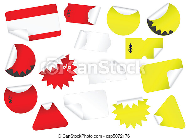 Vector set of blank retail tags wit - csp5072176