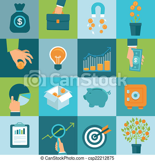 Vector set of business concepts in flat style - csp22212875