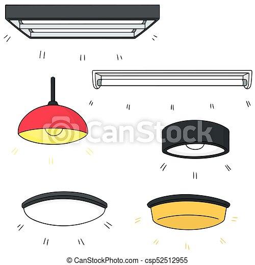 Vector Set Of Ceiling Lamp