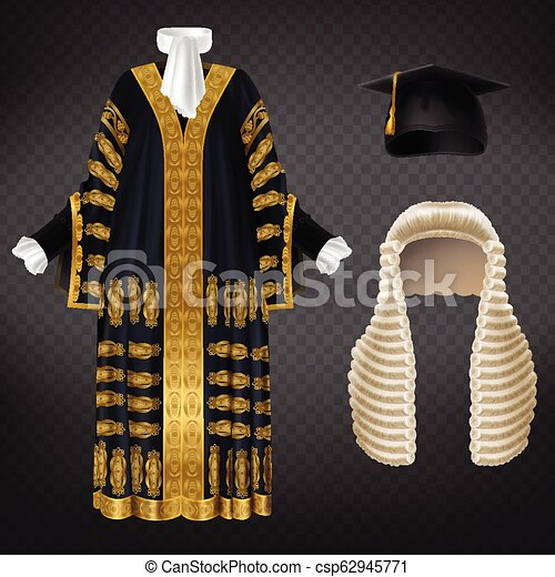 2c739c0694d520 Vector set of ceremonial clothing for judges. Vector black court ...
