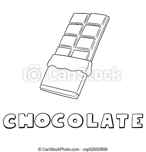 vector set of chocolate - csp52650899