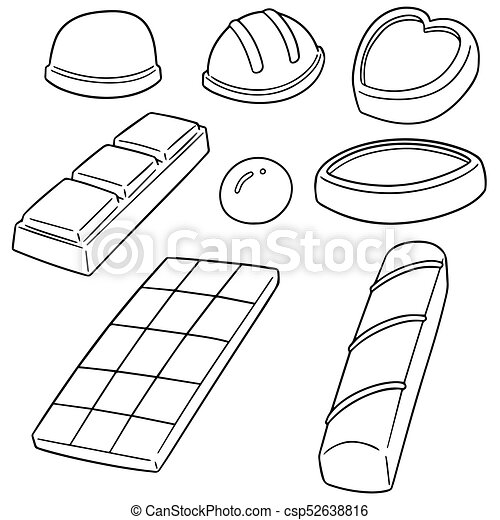 vector set of chocolate - csp52638816