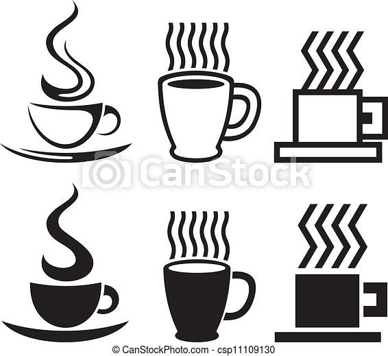 vector set of coffee cup icons - csp11109130