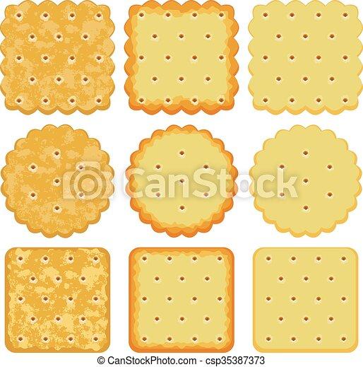 vector set of cracker chips - csp35387373