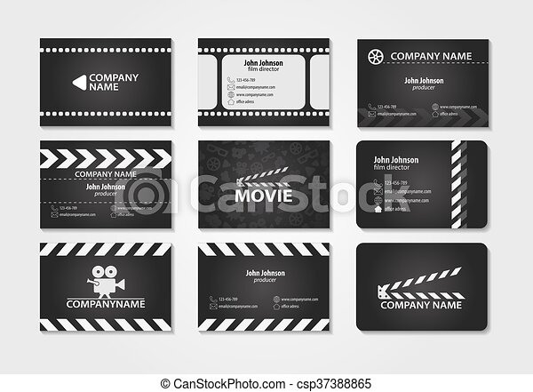 Vector set of creative business cards cards for movie film maker vector set of creative business cards colourmoves