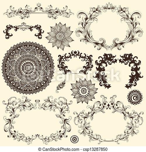 Vector set of design elements - csp13287850