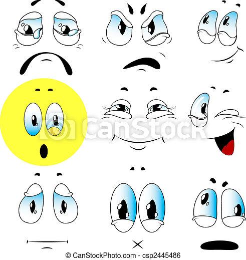 Vector set of emotions - csp2445486