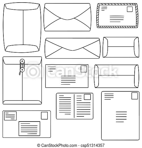 vector set of envelope - csp51314357