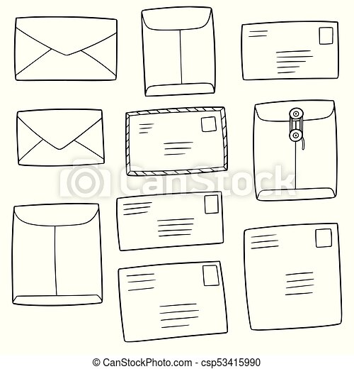 vector set of envelope - csp53415990