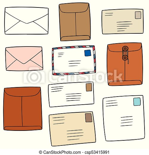 vector set of envelope - csp53415991