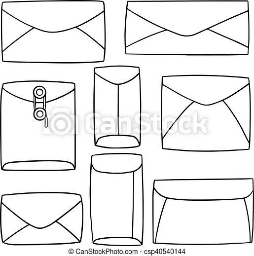 vector set of envelope - csp40540144