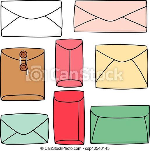 vector set of envelope - csp40540145