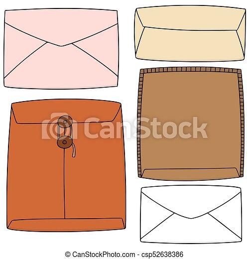 vector set of envelope - csp52638386