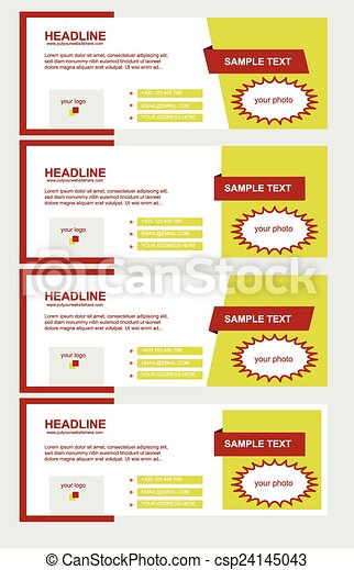 Vector Set Of Facebook Timeline Yellow Covers Eps Vector  Search