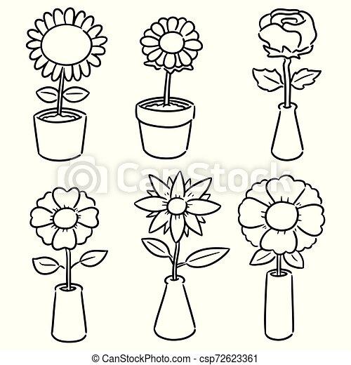 vector set of flower - csp72623361