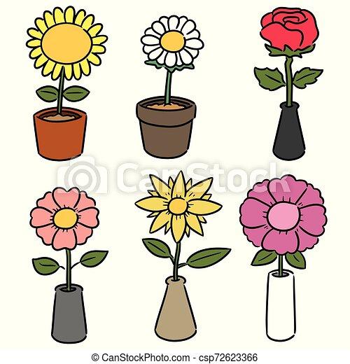vector set of flower - csp72623366