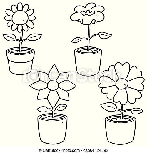 vector set of flower - csp64124592