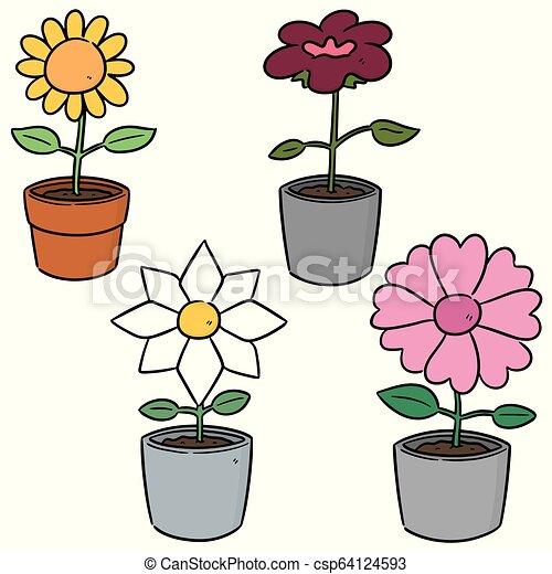 vector set of flower - csp64124593