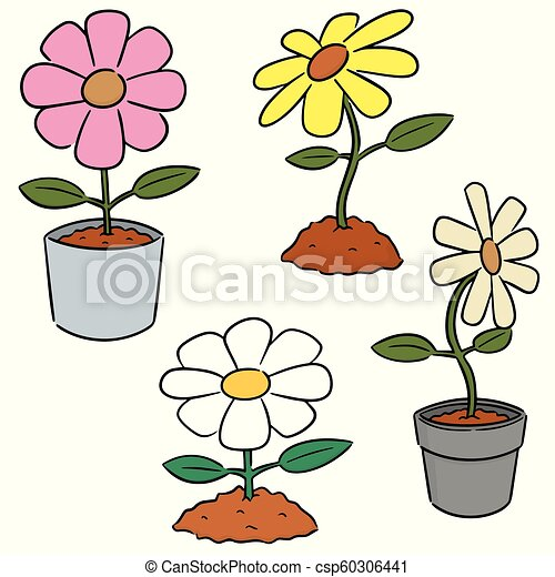 vector set of flower - csp60306441