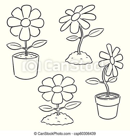vector set of flower - csp60306439