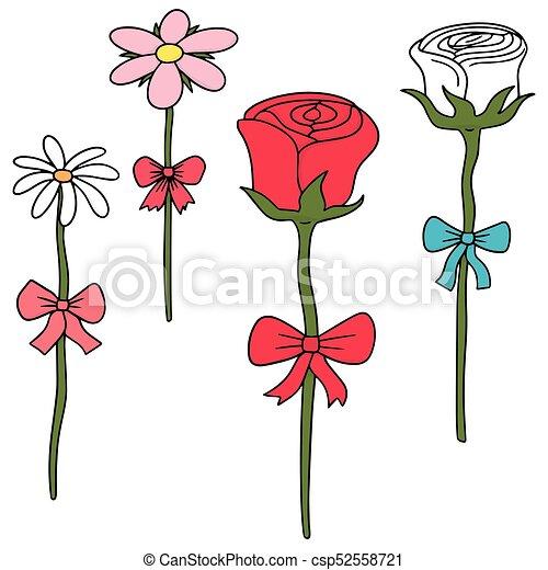 vector set of flower - csp52558721