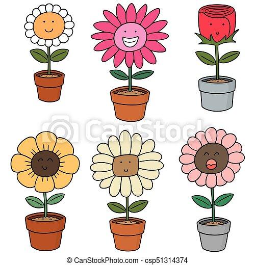 vector set of flower - csp51314374