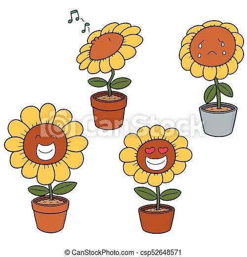 vector set of flower - csp52648571