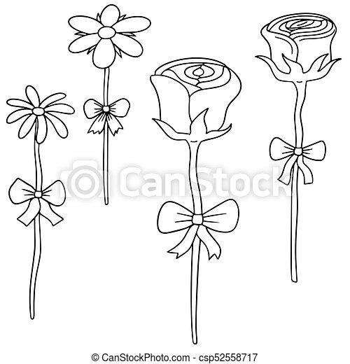vector set of flower - csp52558717