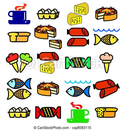 Vector set of food. - csp8083115