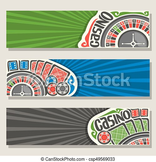 Vector set of gamble banners for Casino - csp49569033