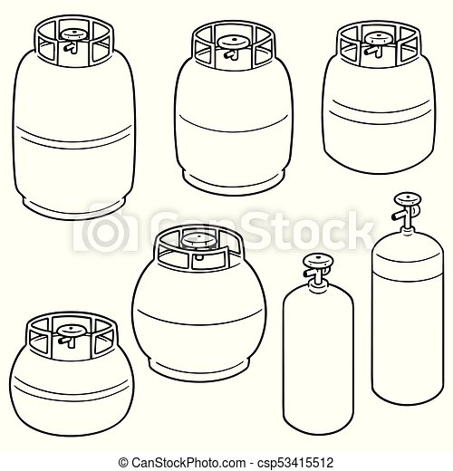 vector set of gas tank - csp53415512