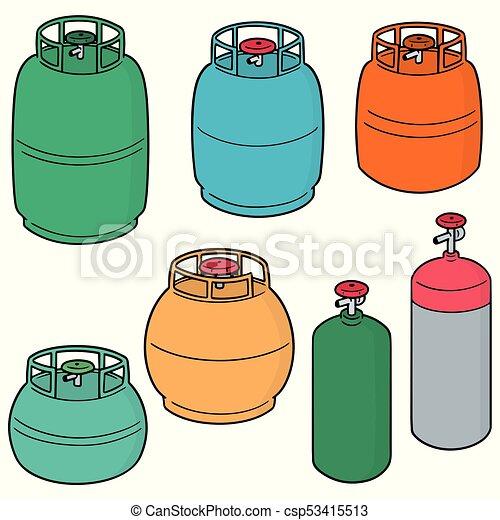 vector set of gas tank - csp53415513