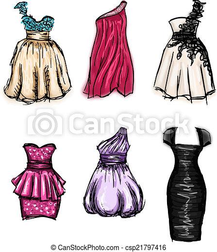 Prom Dress Illustration