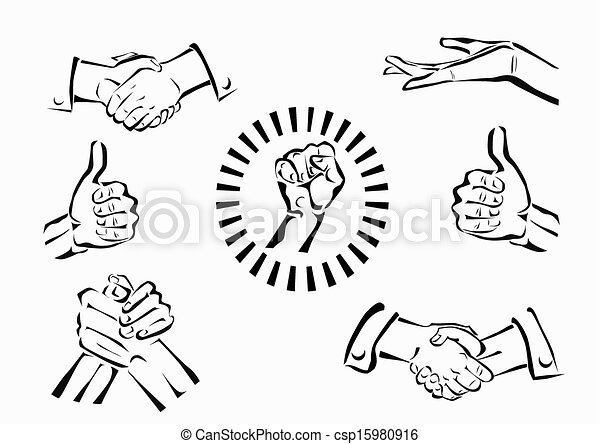 Vector set of hands and gestures - csp15980916