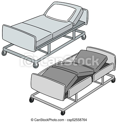 Attrayant Vector Set Of Hospital Bed