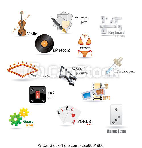 vector set of icons - csp6861966