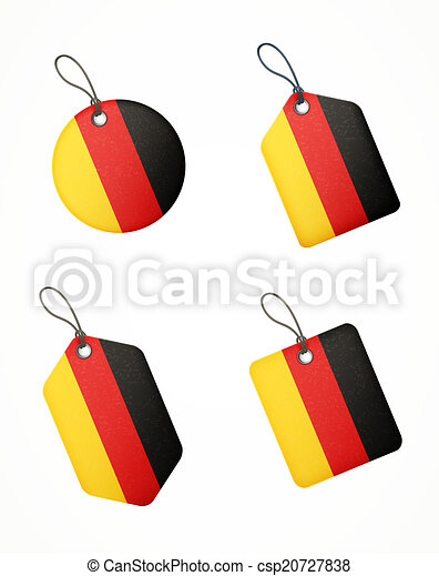 vector set of labels with germany flag - csp20727838